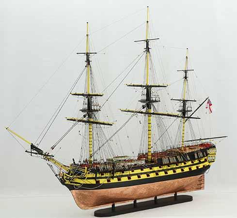 Schiffsmodell HMS Agamemnon von 1781