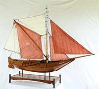 Ship model Arnemuidense Hoogaars of 1874