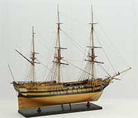 Schiffsmodell Sklavenschiff L'Aurore von 1784