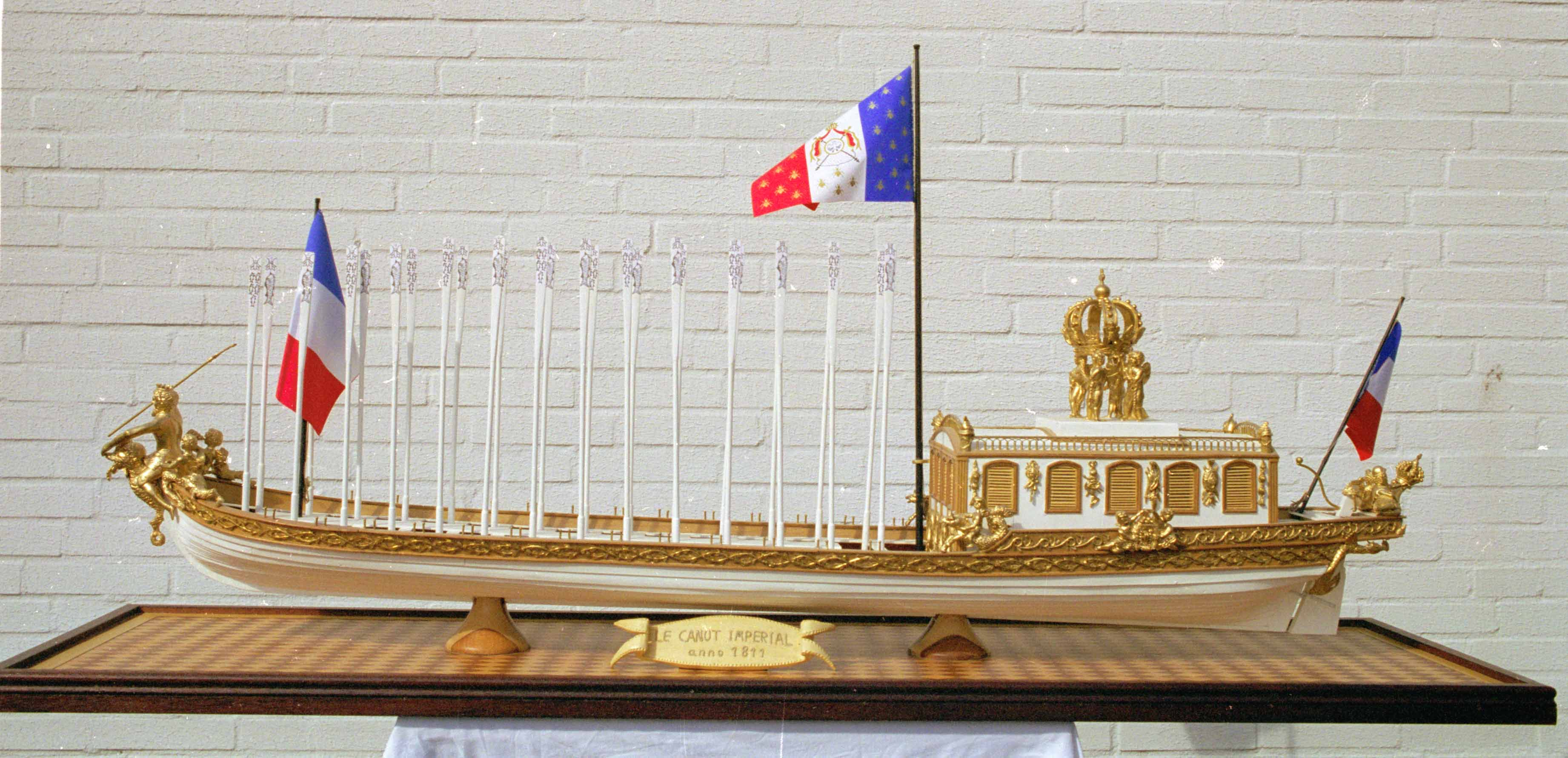 Historic ship models - French barge LE CANOT IMPERIAL