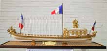 Ship model French barge Le Canot Impérial