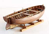Model of a dinghy from Junge-Werft, Germany of 1900