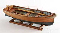 Model of a dinghy of Junge-Werft, Germany, of 1900