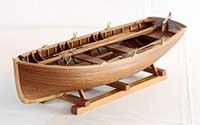 Schiffsmodell Beiboot der Junge-Werft in Wewelsfleet von 1898