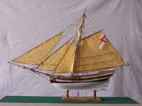 Schiffsmodell Bermuda Sloop von 1740
