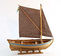 Model of a Bohus jolly boat of 1940