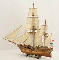 Ship model Dutch bomb galiot