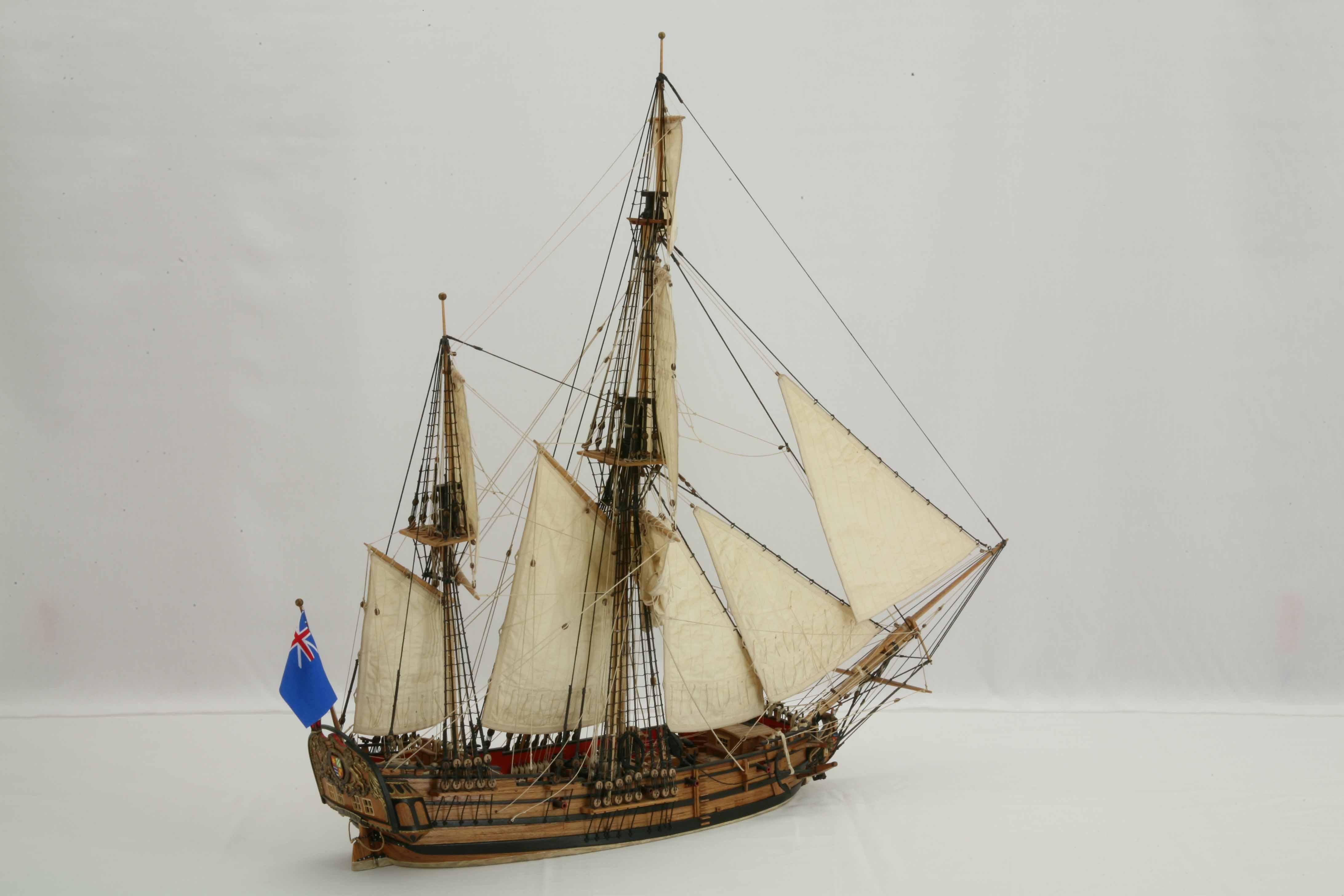 Photos Ship Model English Bomb Ketch Glory Of 1760 Views