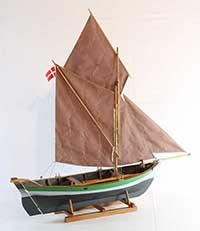 Model of Bornholm boat ODIN of 1892