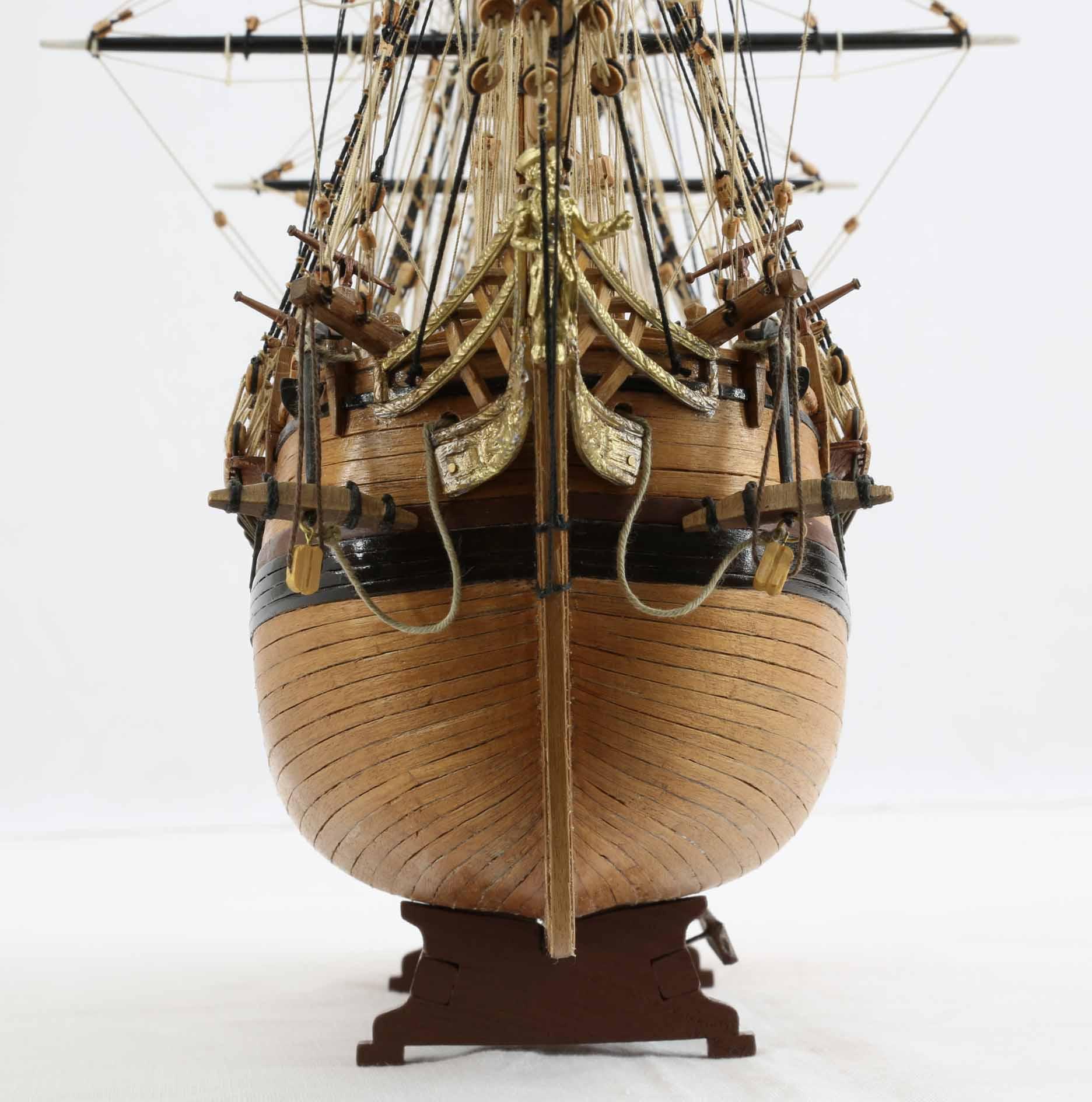 closeup photos of ship model hms bounty of 1784