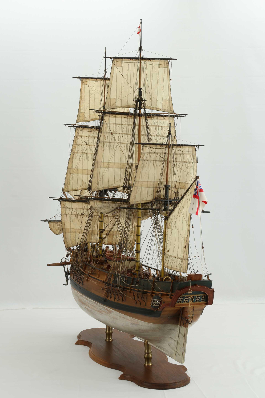 Ship model English HMS BOUNTY of 1784  Sailing ship