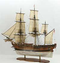 Ship model HMS Bounty of 1784
