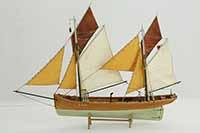 Ship model Breton fishing boat of 1904