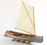 Model of a Connecticut River Shad Boat of 1885