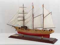 Ship model French barquentine Cote d'Émeraude of 1925