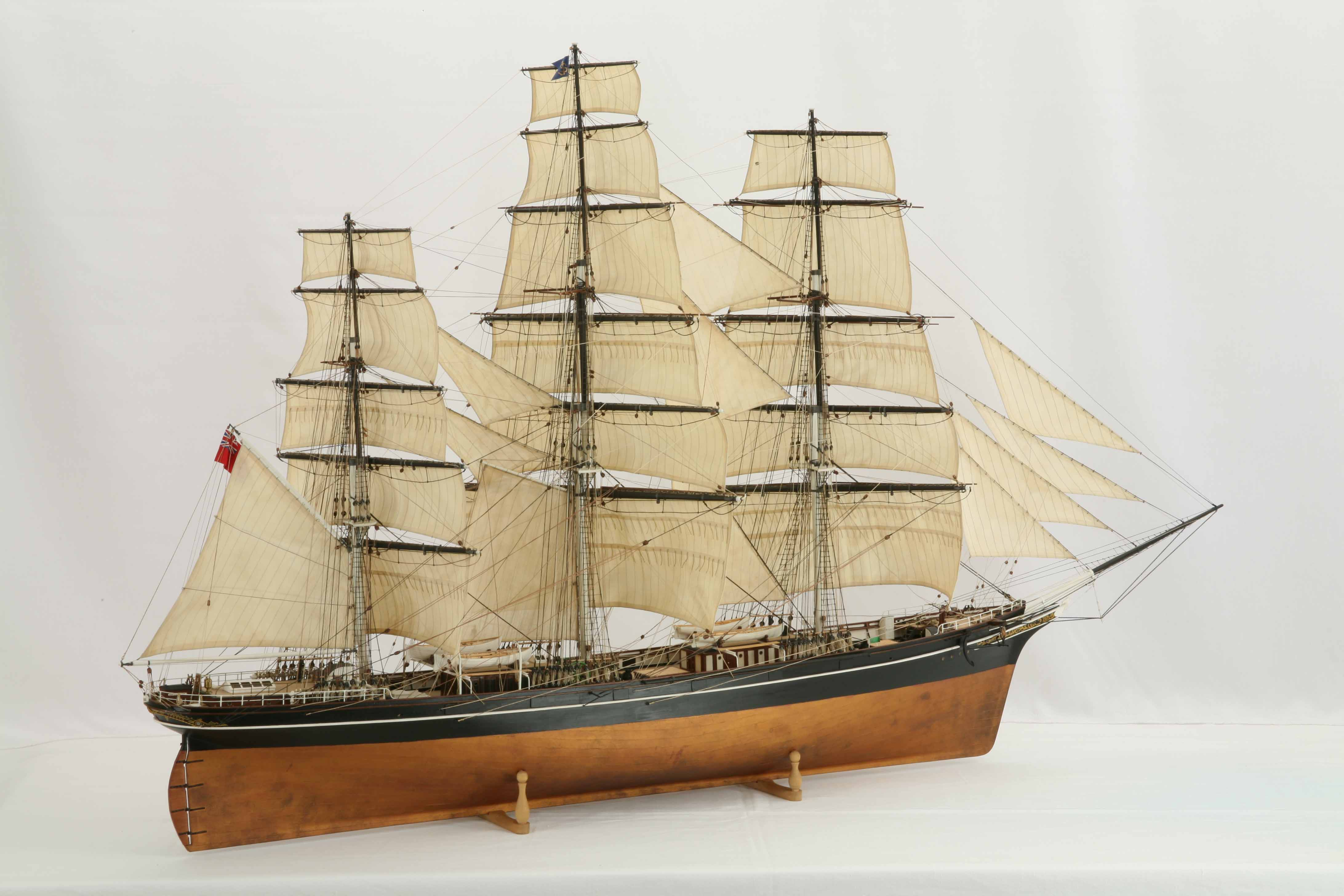 Ship model clipper Cutty Sark of 1869