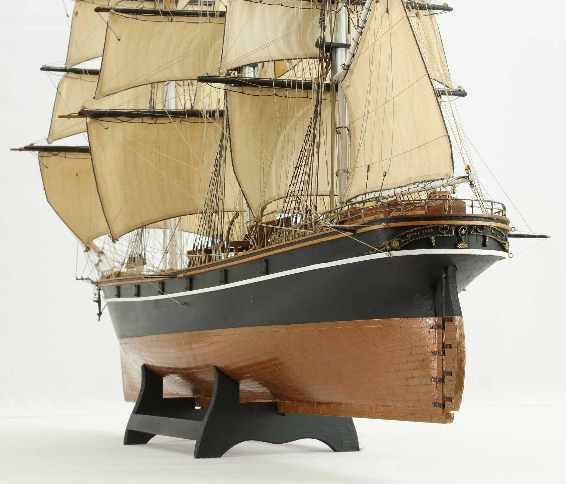 Photos ship model Cutty Sark, views of details
