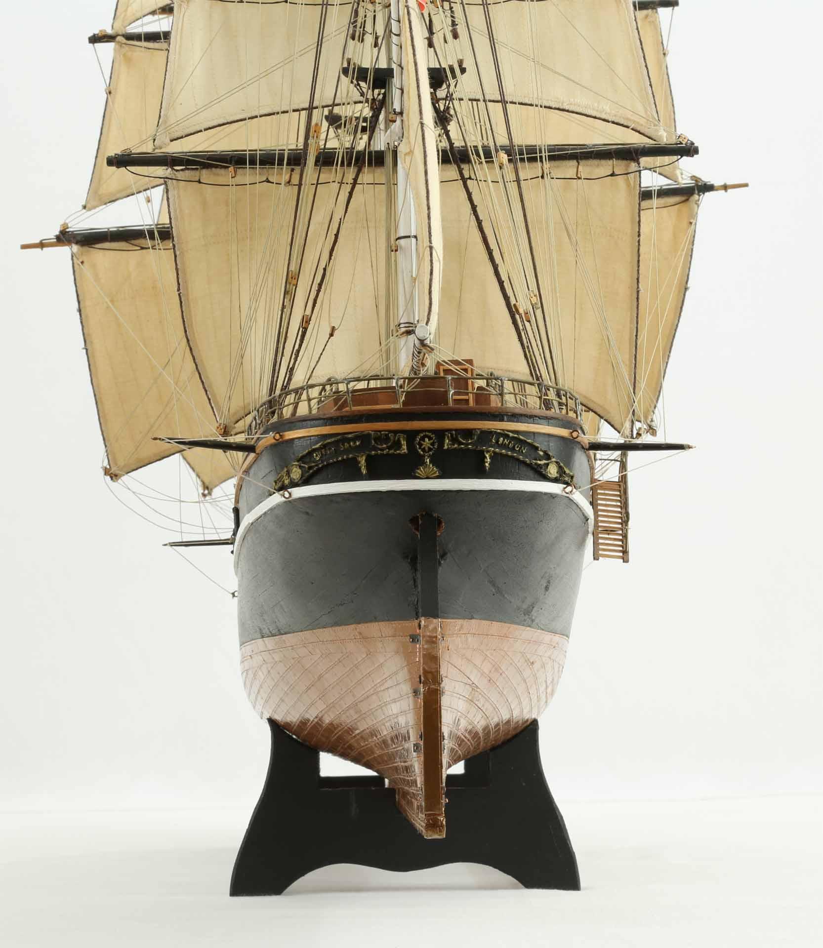 Photos ship model Cutty Sark, views of details