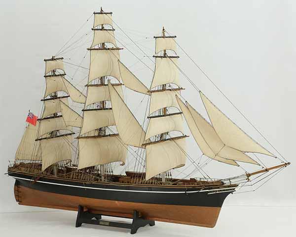 Ship model English tea clipper Cutty Sark of 1869