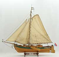 "Model sailing ship Lemster aak ""De Groene Draeck"" of 1957"