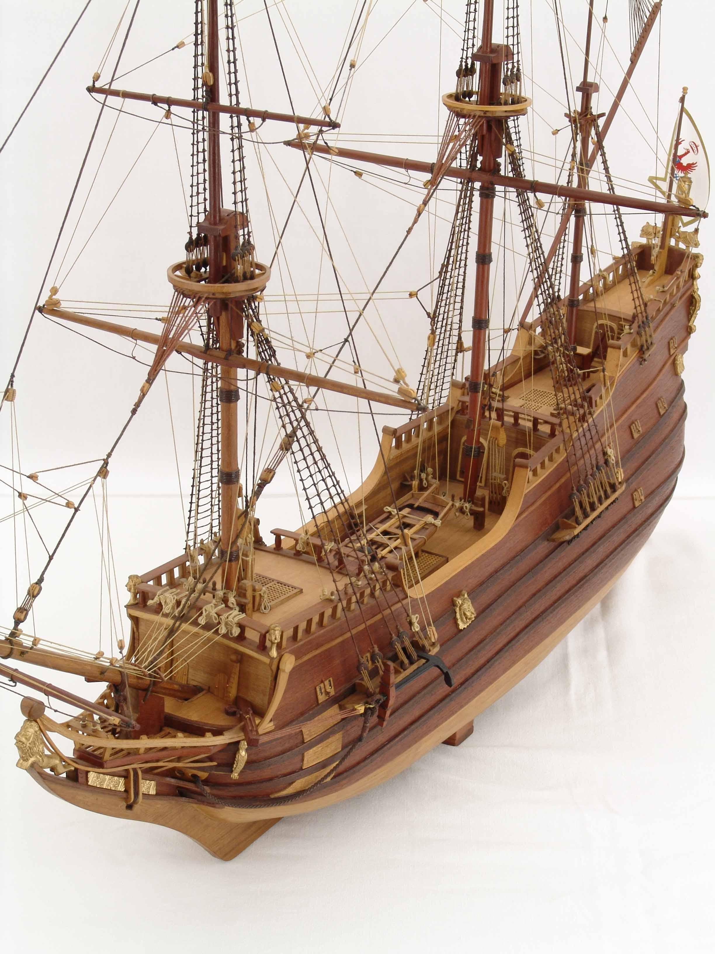 Ship model Derfflinger, close views of details