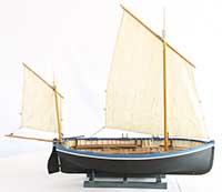 Ship model Dover sprat boat of 1880