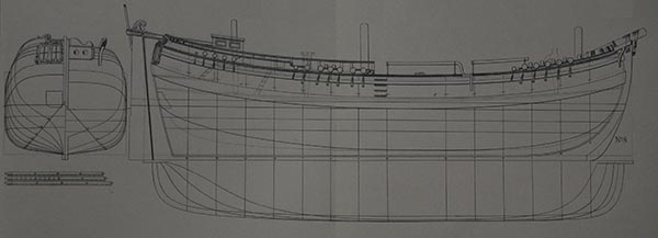 Dutch three-masted galiot in Chapman, Archtectura Navalis, Plate LIV