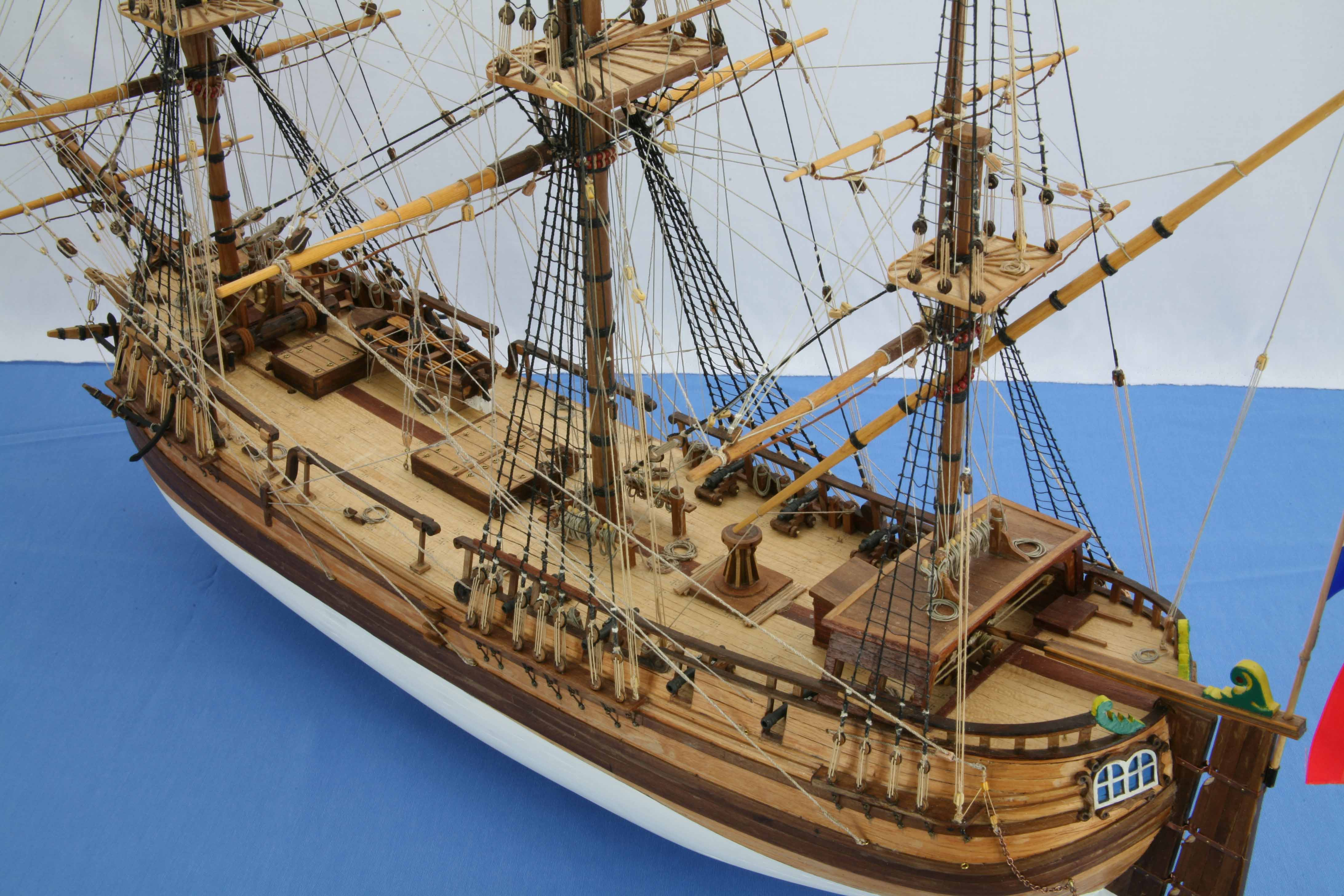 photos ship model dutch galiot 1740  close