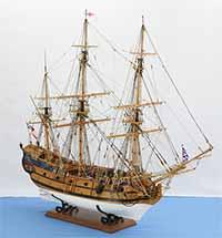 Schiffsmodell englischer Ostindienfahrer von 1740