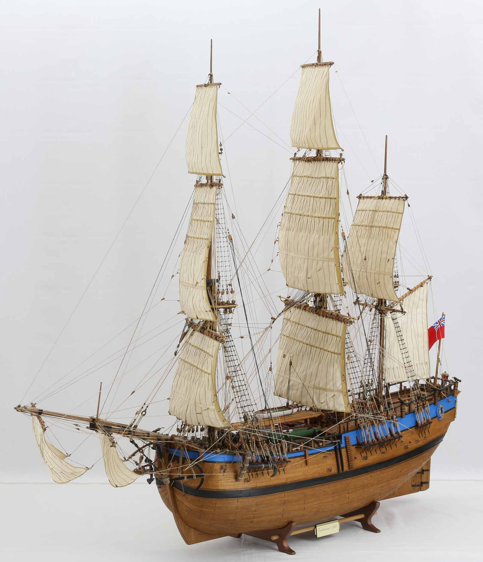 Scale ship model ENDEAVOUR of James Cook
