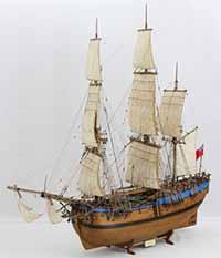 Schiffsmodell Endeavour von 1768