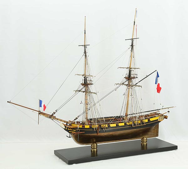 Ship model French brig Euryale of 1804