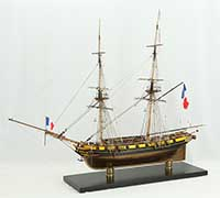 Ship model French brig Euryale of 1804