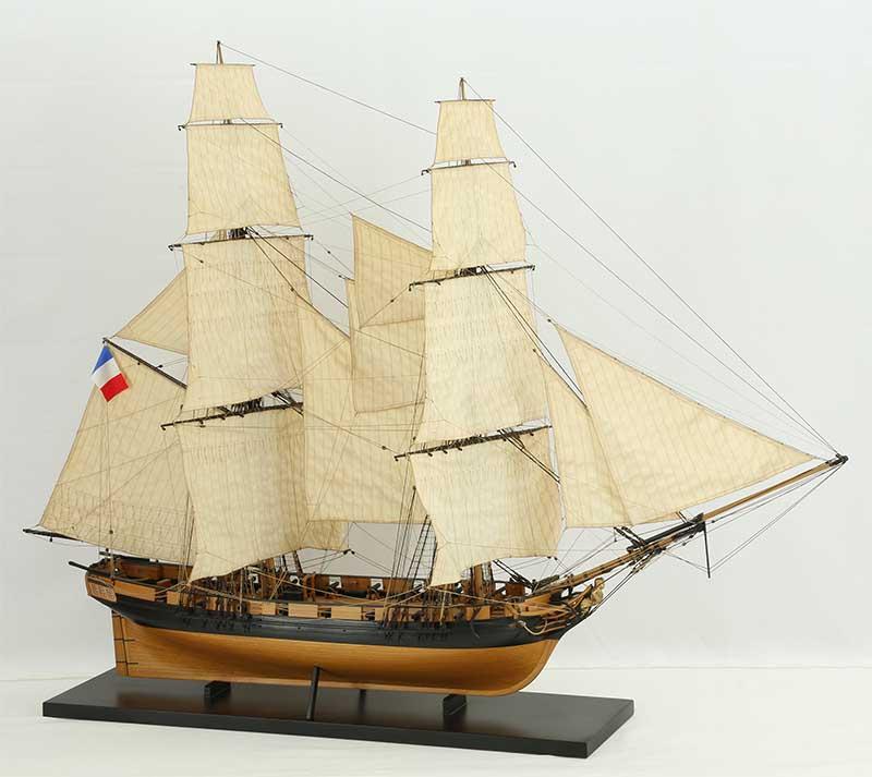 Ship model French brig Favori of 1806