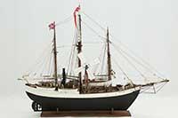 Model of Norwegian polar expedition ship Fram of 1892