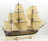 Ship model French 40 gun frigate of 1750