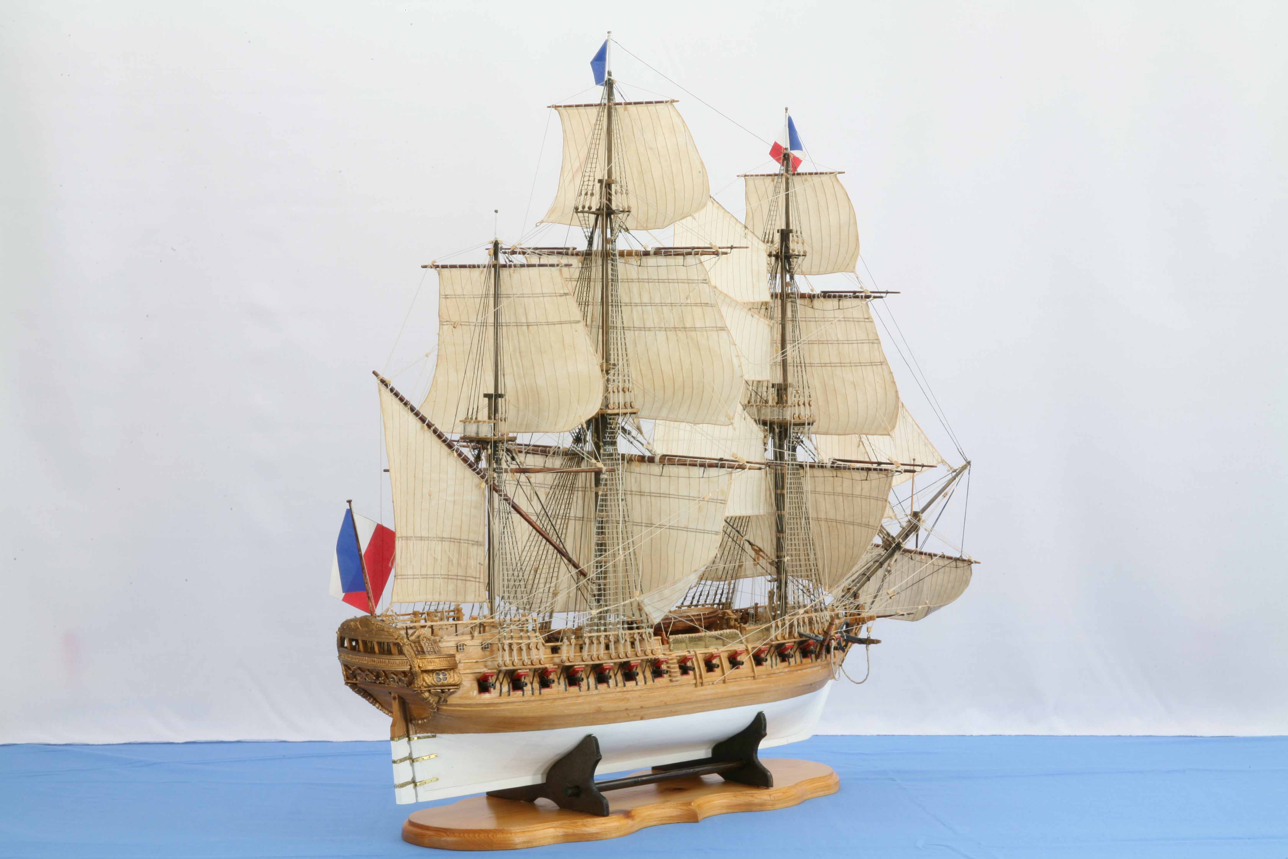 Ship model French Frigate 18th century, Chapman Pl. XXXI