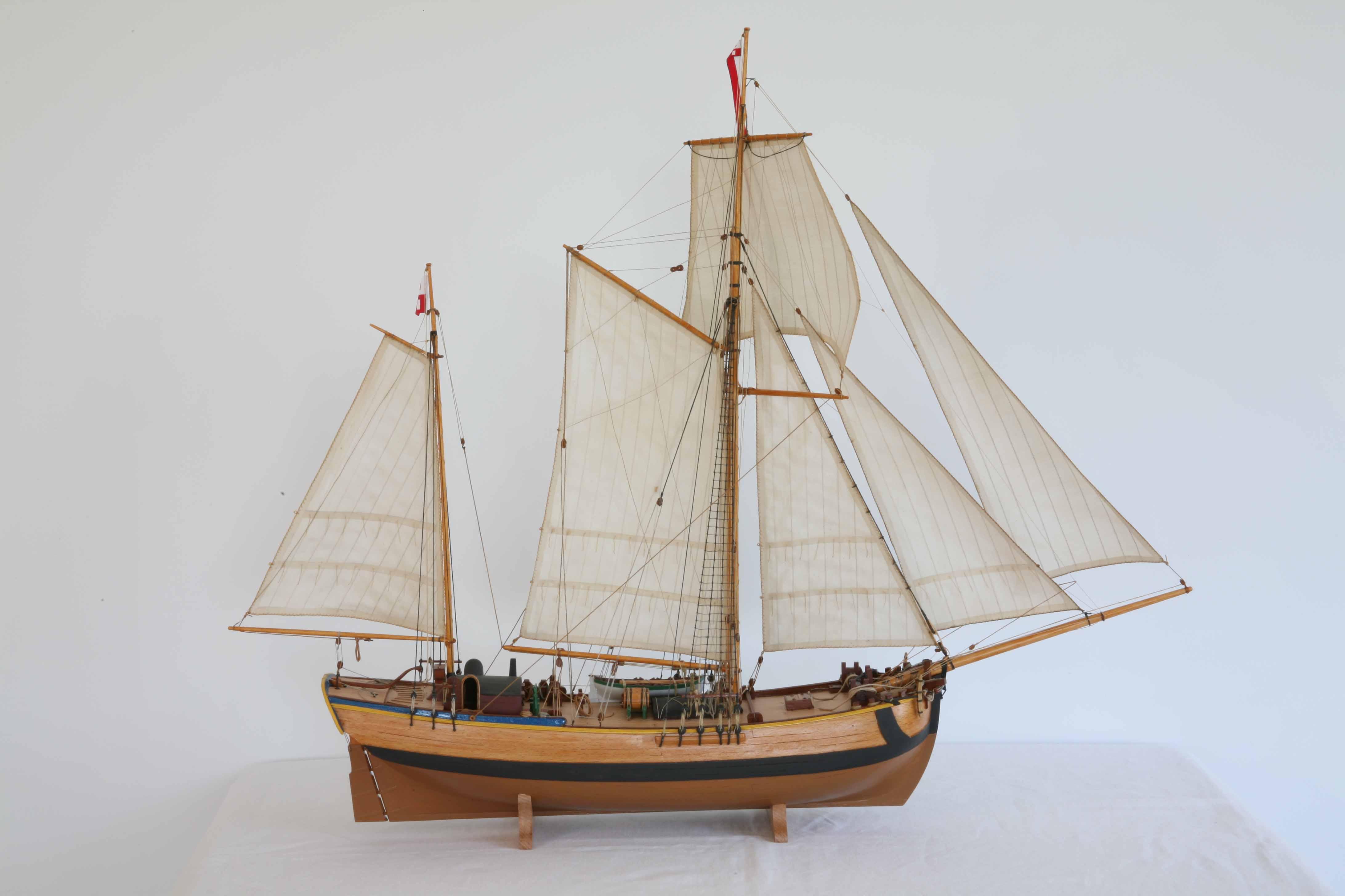 Schiffsmodell stettiner galeasse 18 jahrhundert segelschiff for Mobel 19 jahrhundert