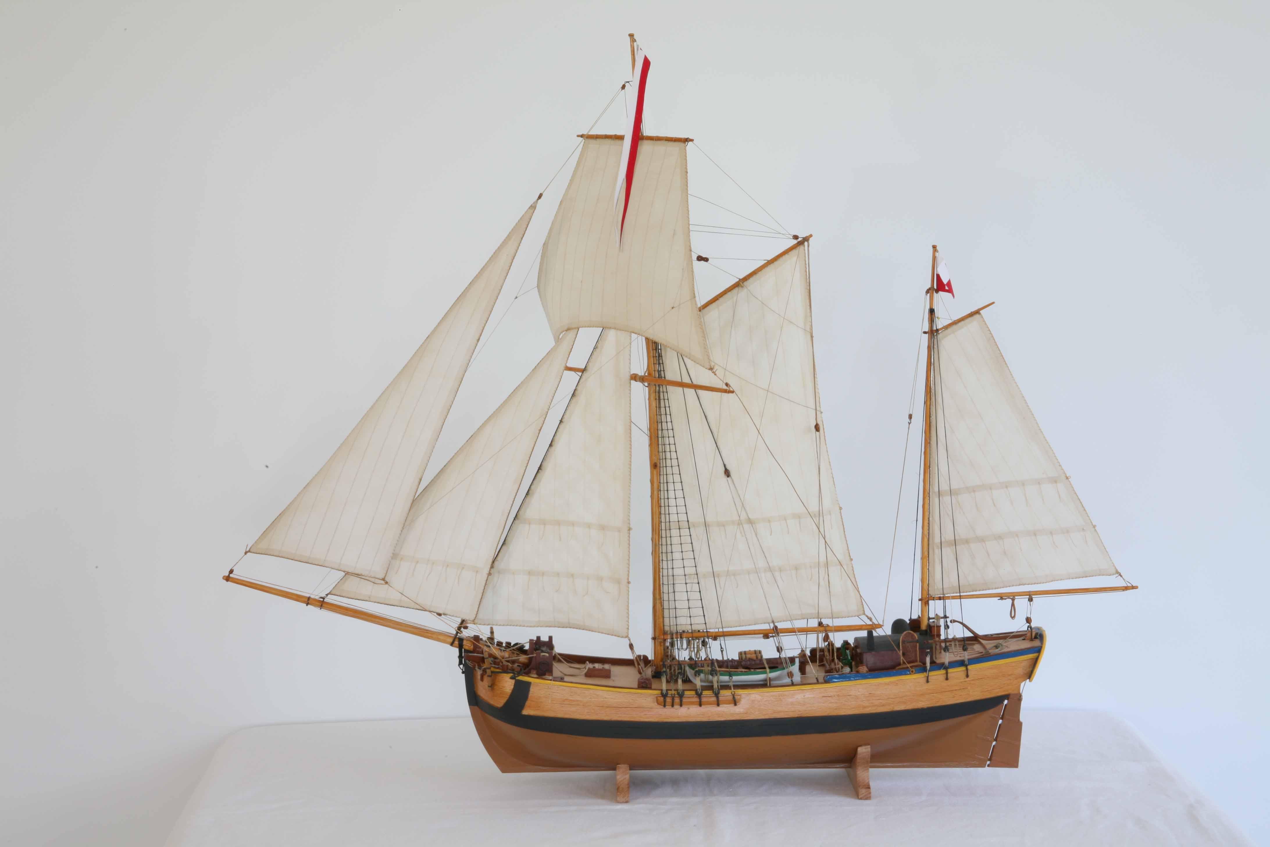 Photos ship model galeas from Stettin, 18th century