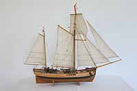 Ship model galeas from Stettin