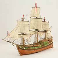 Ship model galiot Stadt Elbing
