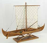 Ship model Gokstad ship, 9th century