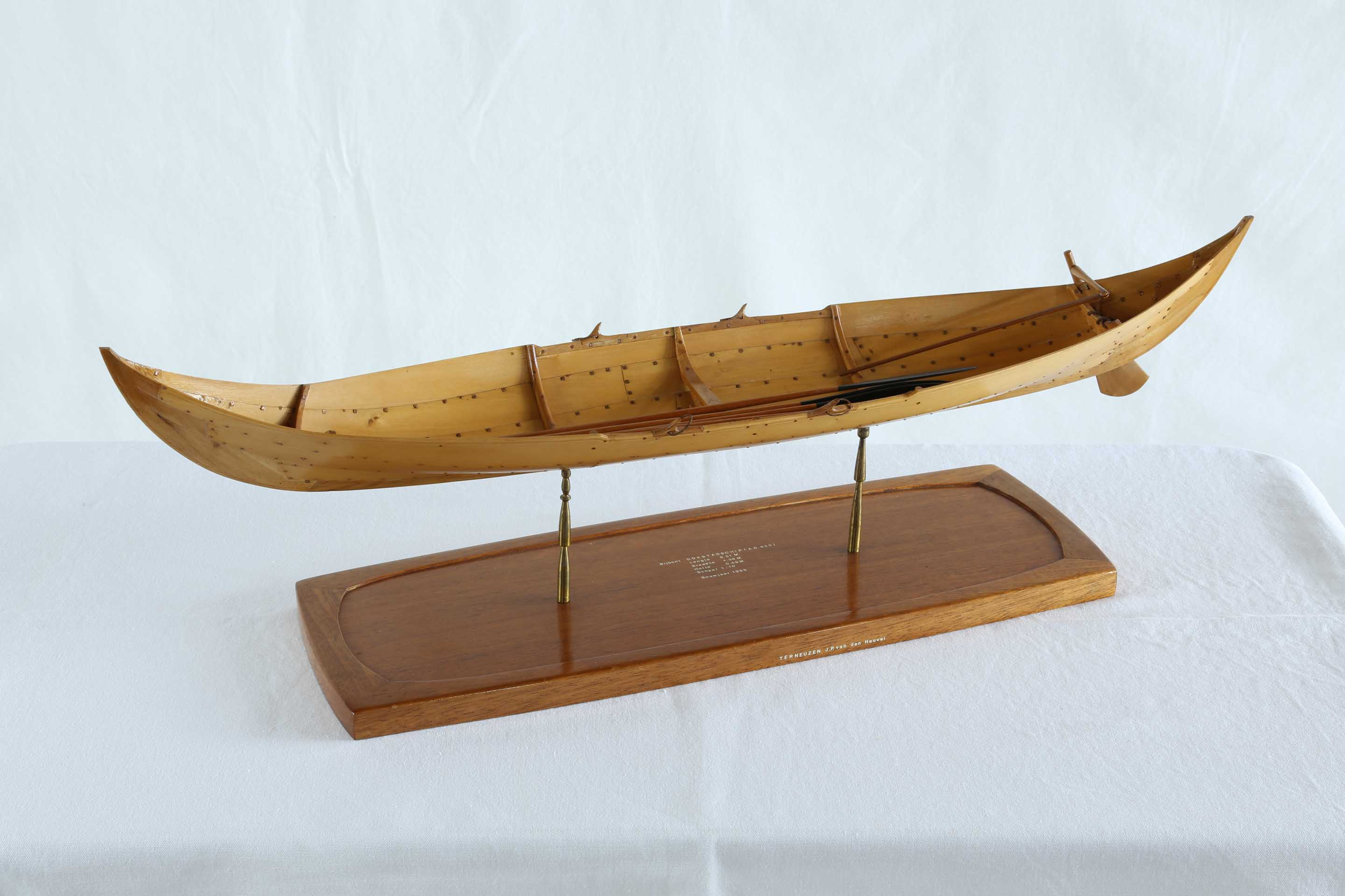 Model of one of the Gokstad ship's boats