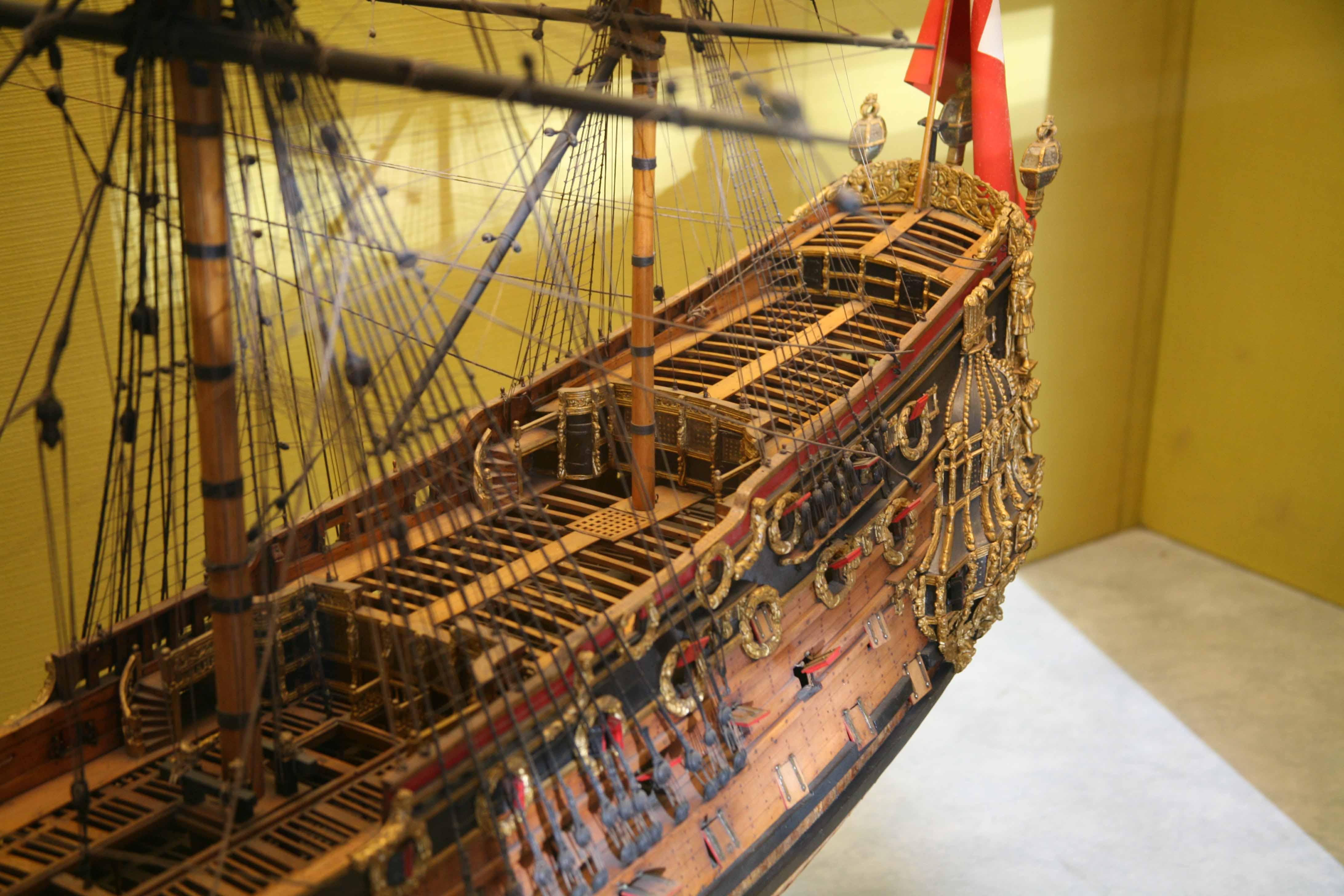 Dockyard model HMS Prince, London Science Museum