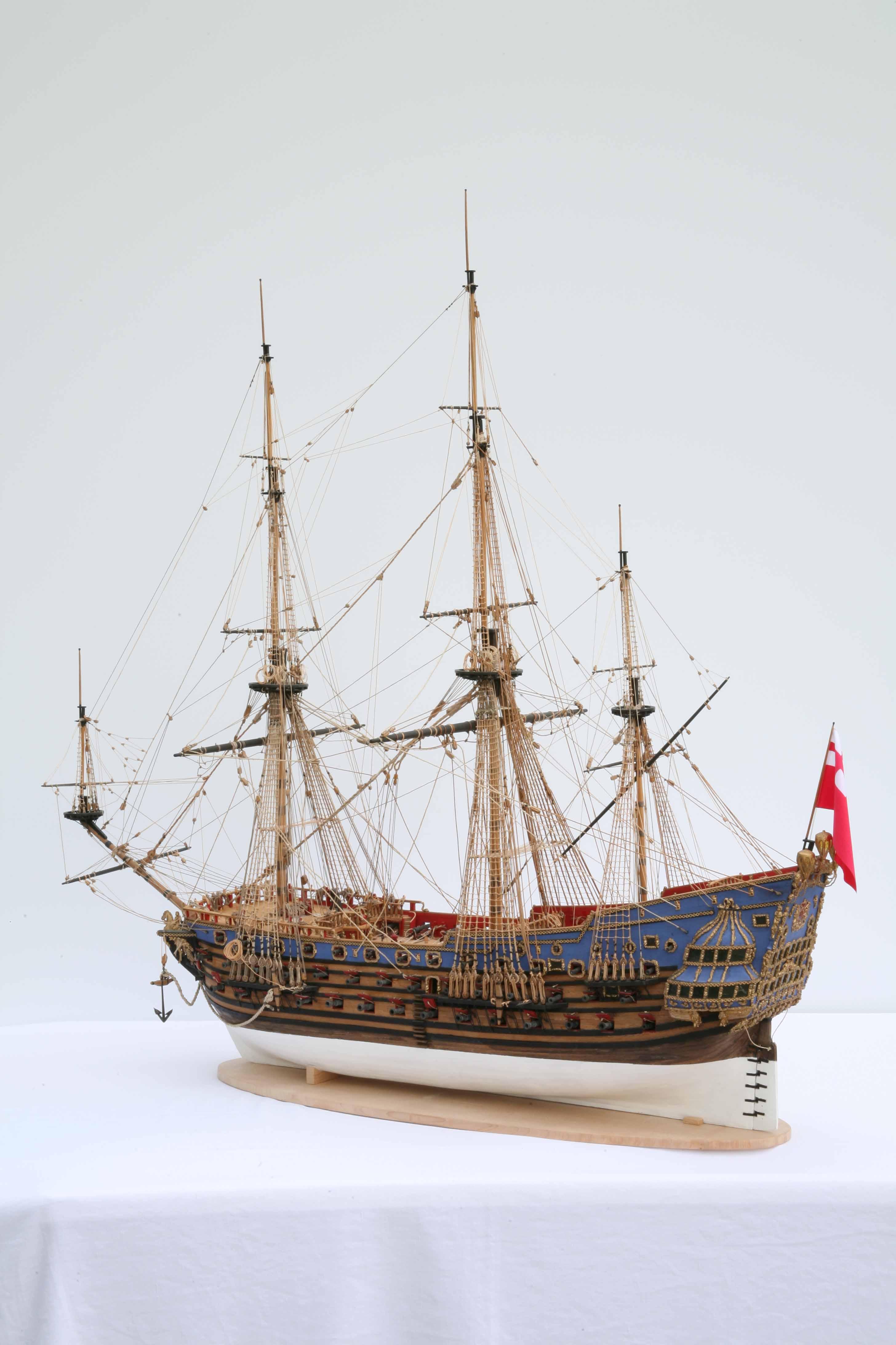 Photos ship model HMS Prince, entire ship