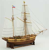 Ship model Rostock galeas HELENE of 1817