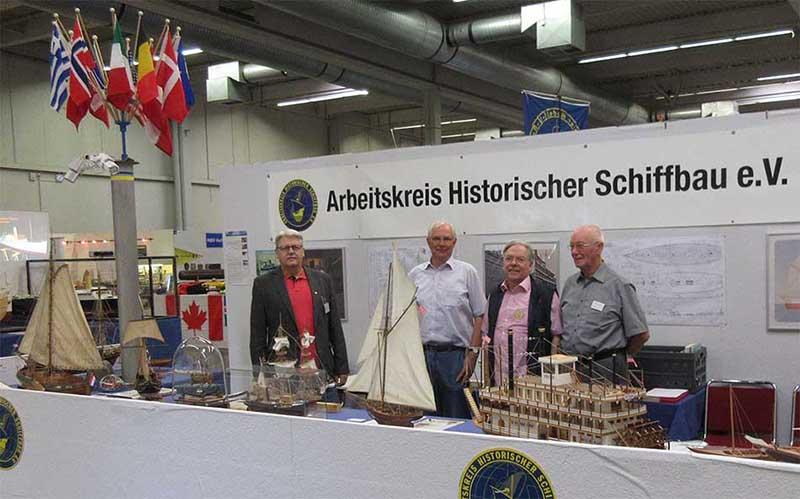 Stand of the Arbeitskreis Historischer Schiffbau at the Intermodellbau 2018