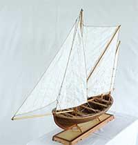 Modell einer schwedischen Kaag von 1900