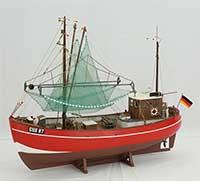 Ship model German fishing cutter CUX 87
