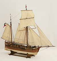 Ship model German galiot HOFFNUNG of 1897